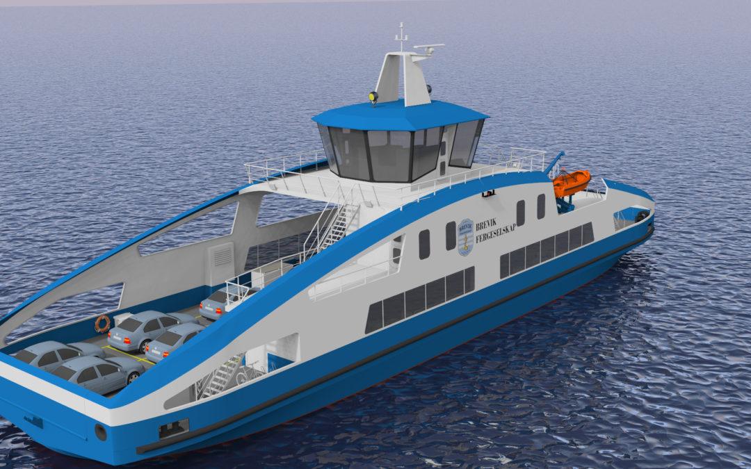 Brevik Fergeselskap IKS og Holland Shipyards BV har undertegnet en avtale om bygging av ny elektrisk ferge.